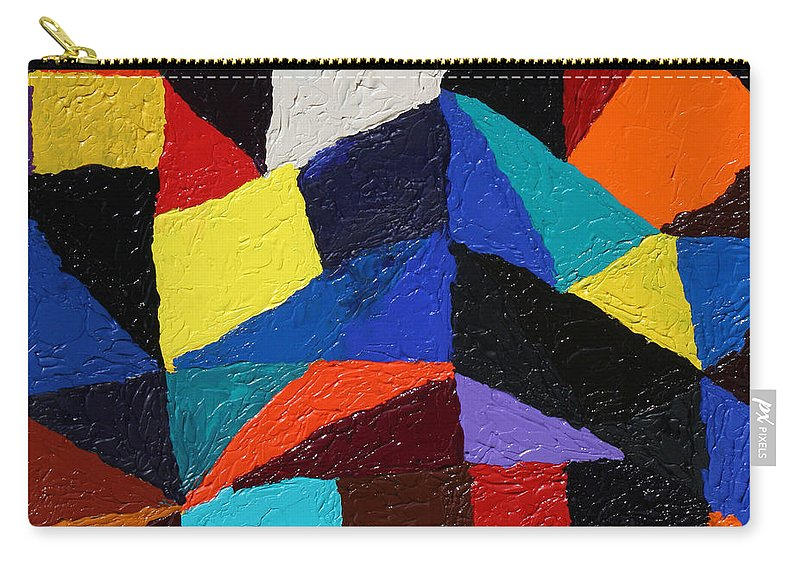 Fusionart Carry-all Pouch featuring the painting Cityscape by Ralph White