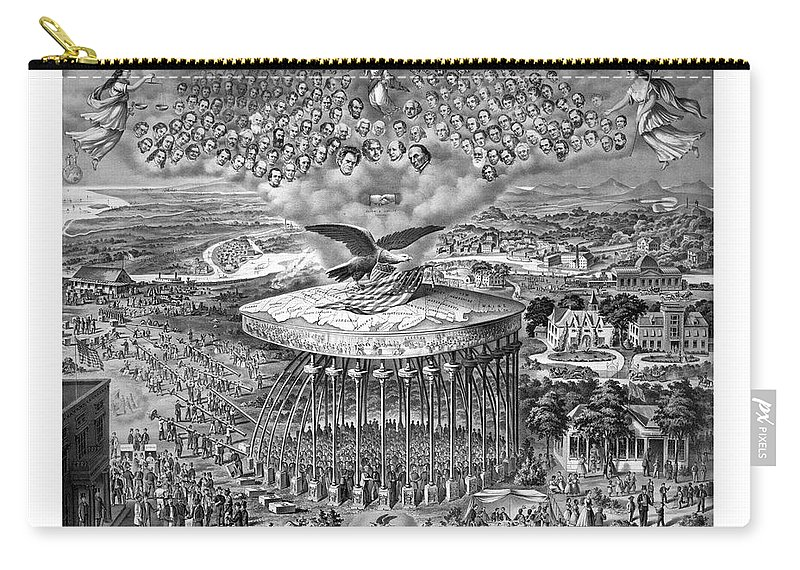 Civil War Carry-all Pouch featuring the painting Civil War Reconstruction by War Is Hell Store