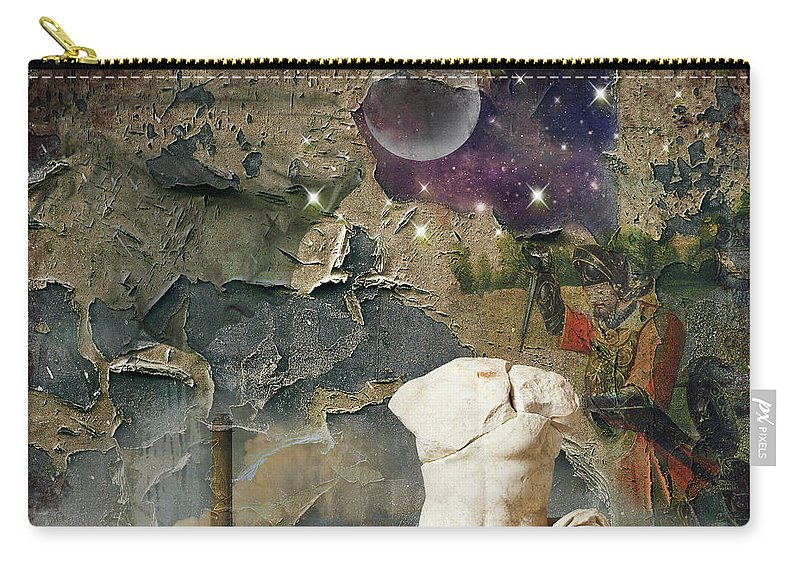 Decay Carry-all Pouch featuring the digital art Civilization I by Debbra Jansen