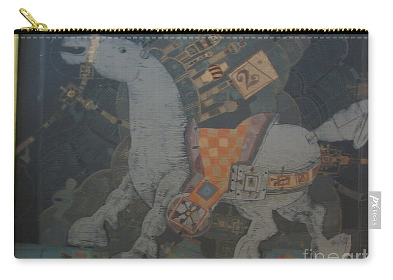 Horse Carry-all Pouch featuring the painting Clad by Kamara Hosic