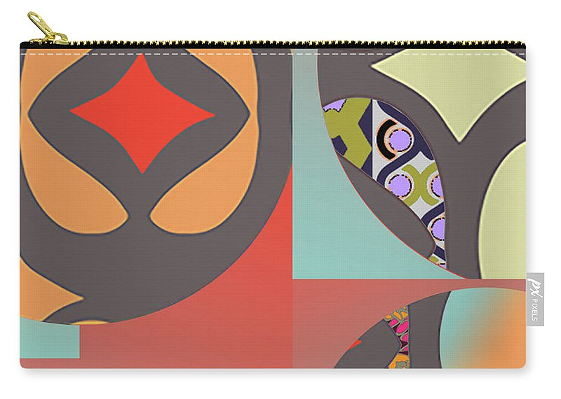 Digital Art Carry-all Pouch featuring the digital art Claire by Ceil Diskin