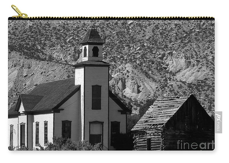 Mormon Carry-all Pouch featuring the photograph Clapboard Church 1898 by David Lee Thompson