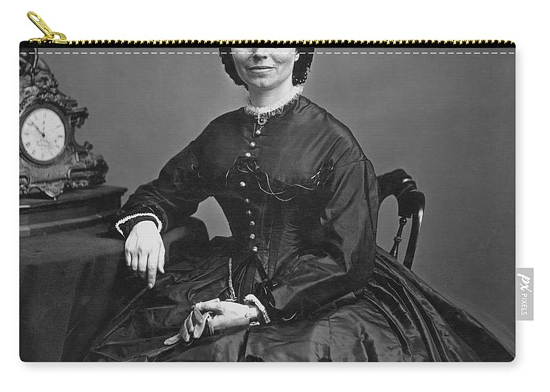 1866 Carry-all Pouch featuring the photograph Clara Barton (1821-1912) by Granger