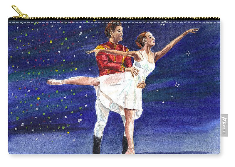 Clara Carry-all Pouch featuring the painting Clara's Nutcracker by Clara Sue Beym