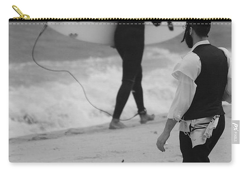 Black And White Carry-all Pouch featuring the photograph Clash Of Cultures by Rob Hans