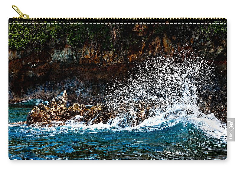 Rocks Carry-all Pouch featuring the photograph Clashing Nature by Christopher Holmes