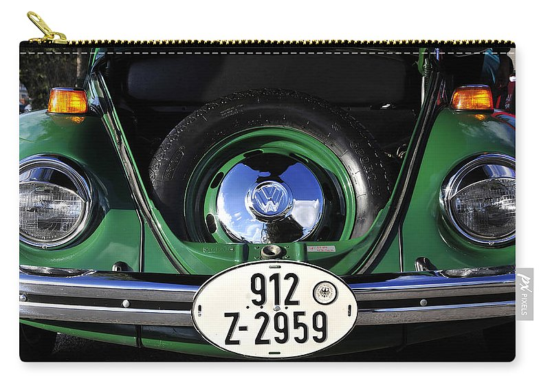 Fine Art Photography Carry-all Pouch featuring the photograph Classic Beetle by David Lee Thompson