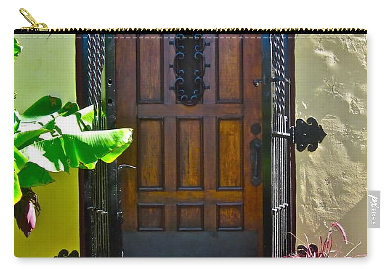 Photograph Of Door Carry-all Pouch featuring the photograph Classic Belmont Shore by Gwyn Newcombe