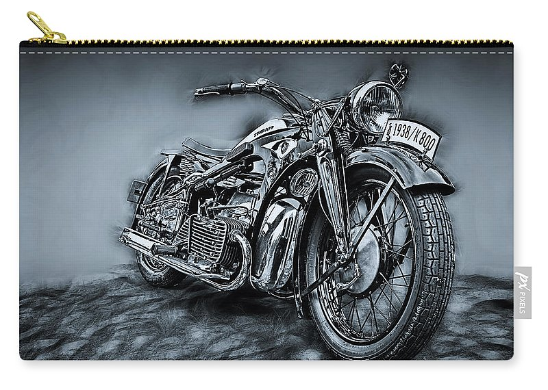 Bike Carry-all Pouch featuring the photograph Classic Bike by Joachim G Pinkawa