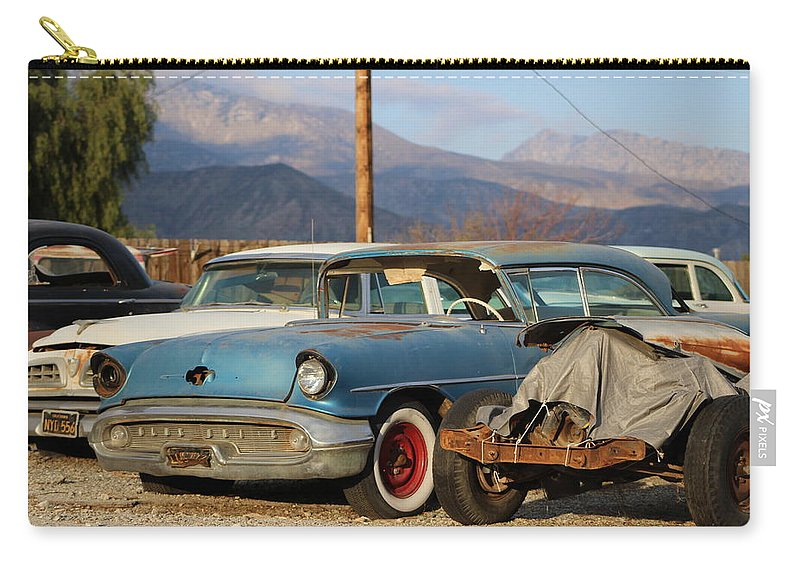 Classic Car Carry-all Pouch featuring the photograph Classic Chevy True Blue by Colleen Cornelius