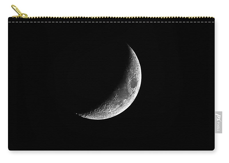 Moon Carry-all Pouch featuring the photograph Classic Crescent Cropped by Al Powell Photography USA