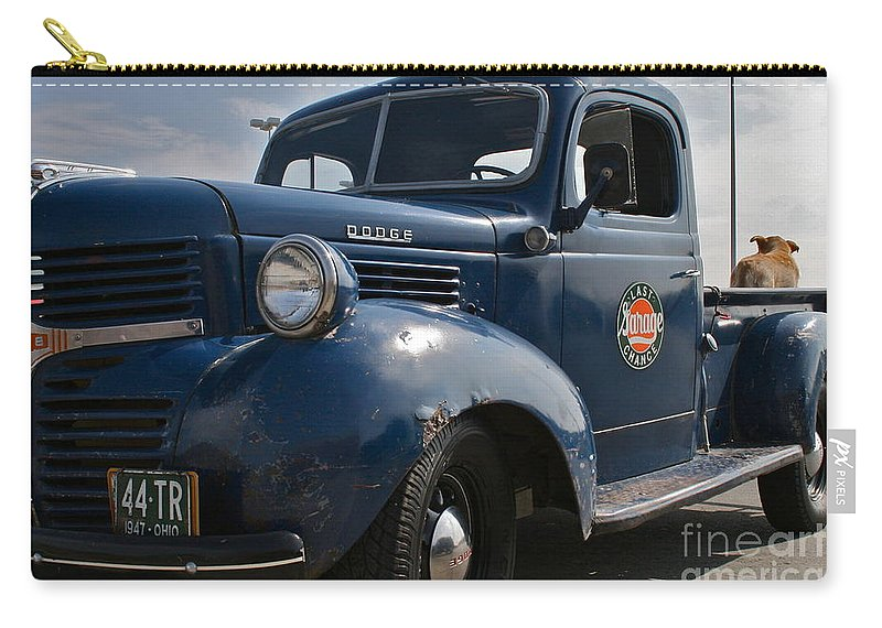 Truck Carry-all Pouch featuring the photograph Classic Dodge by Rick Monyahan