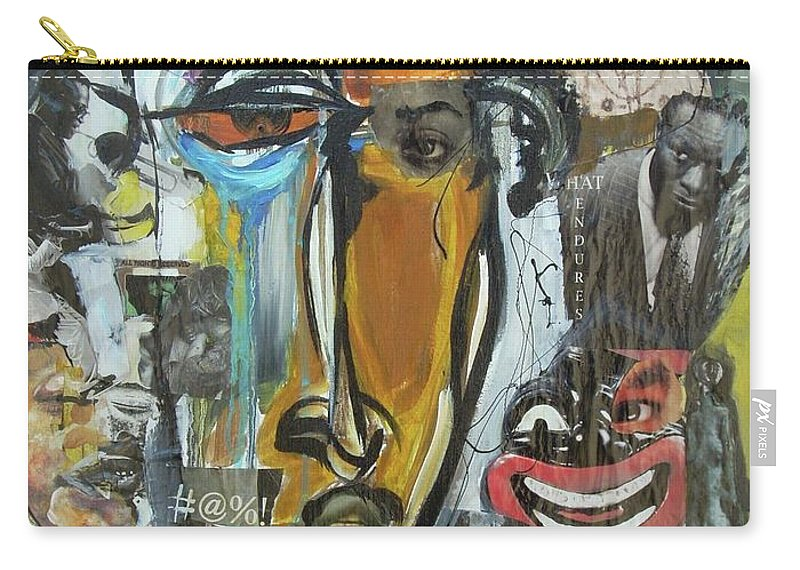 Culture Carry-all Pouch featuring the painting Classic by Hasaan Kirkland