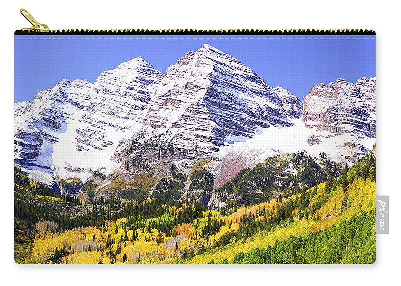 Americana Carry-all Pouch featuring the photograph Classic Maroon Bells by Marilyn Hunt