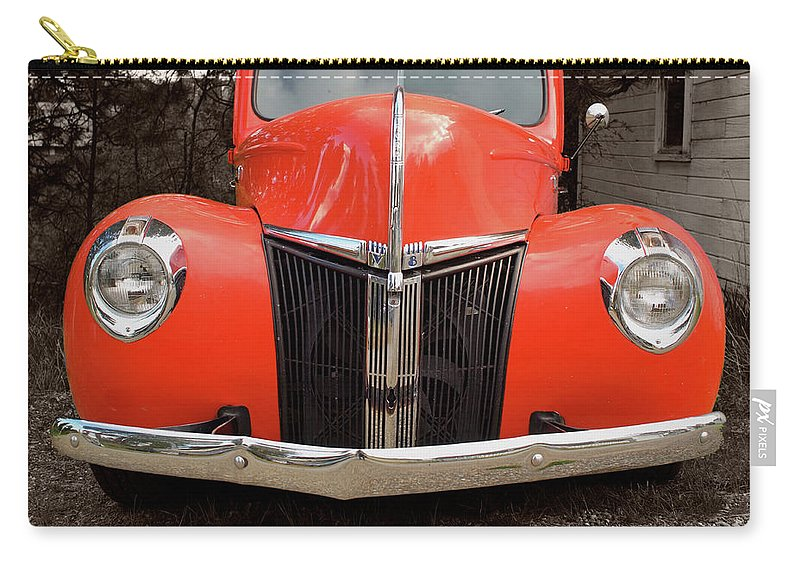 Classic Car Carry-all Pouch featuring the photograph Classic Pick Up Truck by Herman Robert