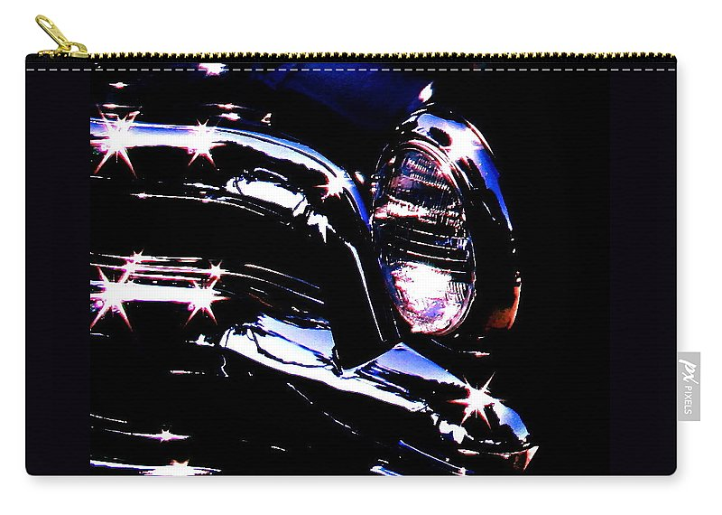 Photograph Of Classic Car Carry-all Pouch featuring the photograph Classic Sparkle by Gwyn Newcombe