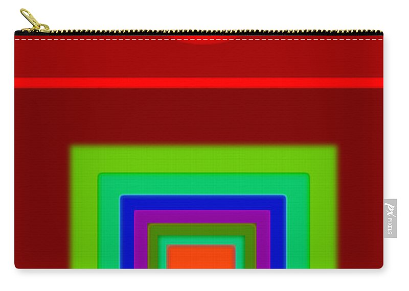 Classical Carry-all Pouch featuring the digital art Classic Terracota by Charles Stuart