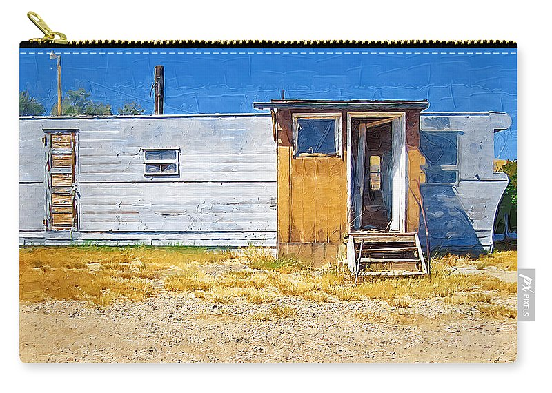 Window Carry-all Pouch featuring the photograph Classic Trailer by Susan Kinney