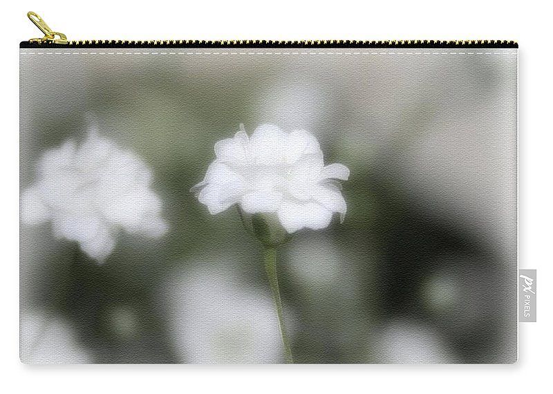 Flowers Carry-all Pouch featuring the photograph Classic White by Linda Sannuti