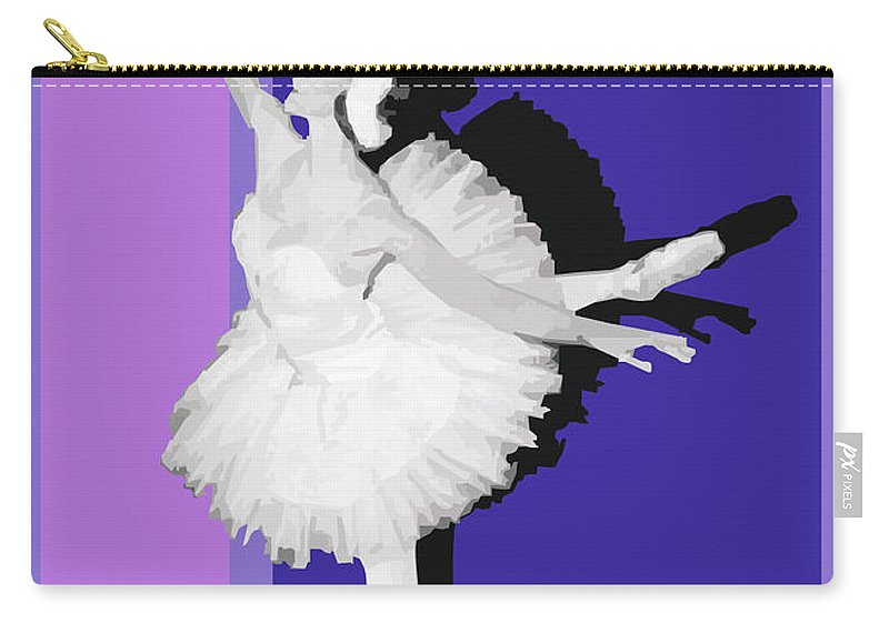 Classical Carry-all Pouch featuring the digital art Classical Ballet by Joaquin Abella