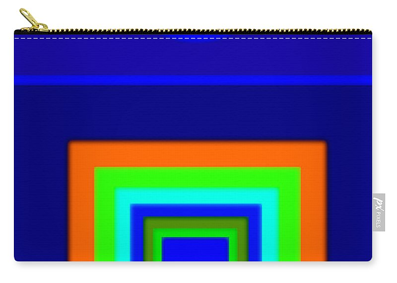 Classical Carry-all Pouch featuring the painting Classical Blue by Charles Stuart