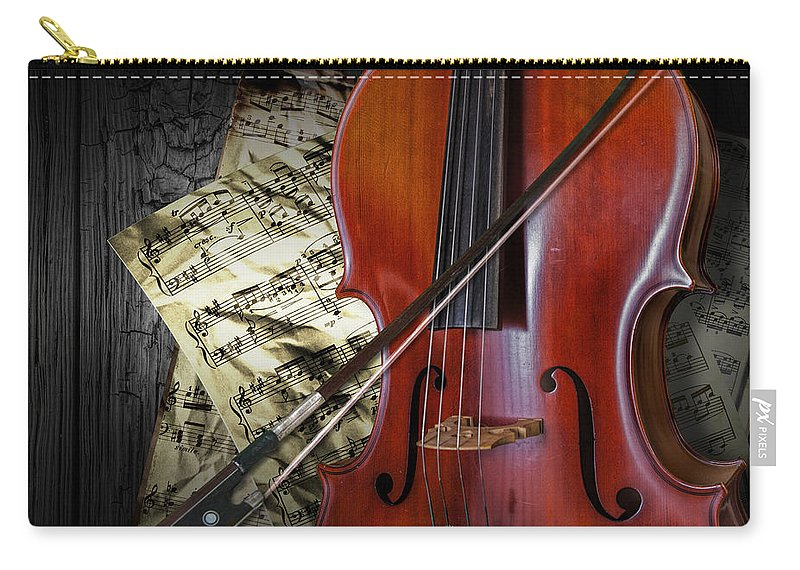 Cello Carry-all Pouch featuring the photograph Classical Cello by Randall Nyhof