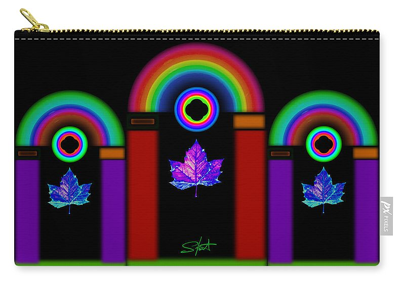 Classical Carry-all Pouch featuring the painting Classical Neon by Charles Stuart