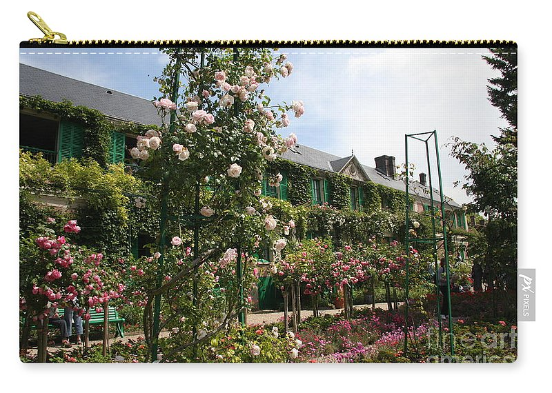 Monet Carry-all Pouch featuring the photograph Claude Monets House - Giverney - France by Christiane Schulze Art And Photography