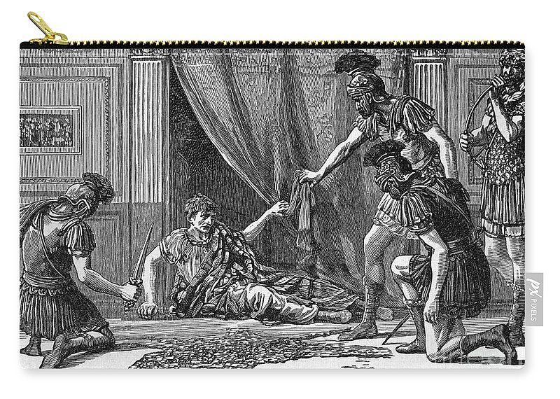 1st Century Carry-all Pouch featuring the photograph Claudius And Guards by Granger