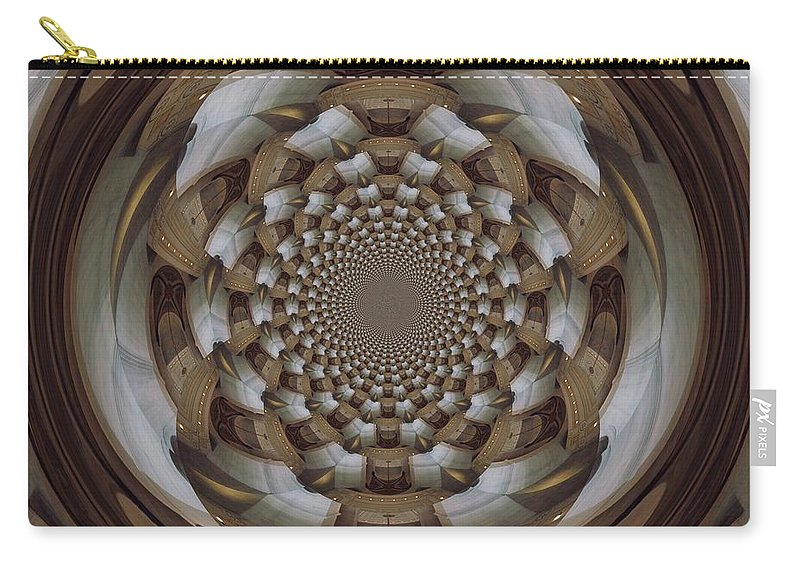Swirl Carry-all Pouch featuring the digital art Clawing Out by Charleen Treasures
