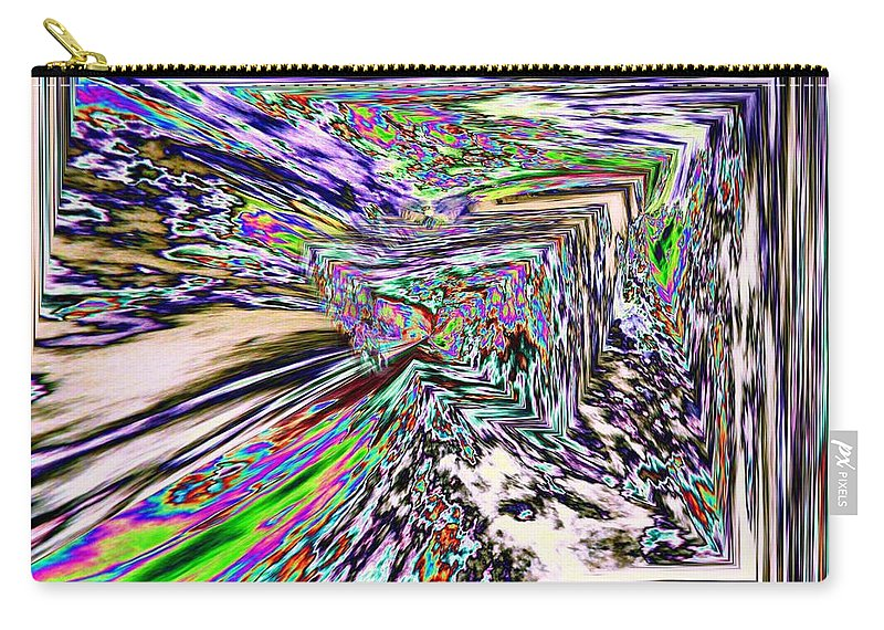 Abstract Carry-all Pouch featuring the photograph Clear As Mud 2 by Tim Allen