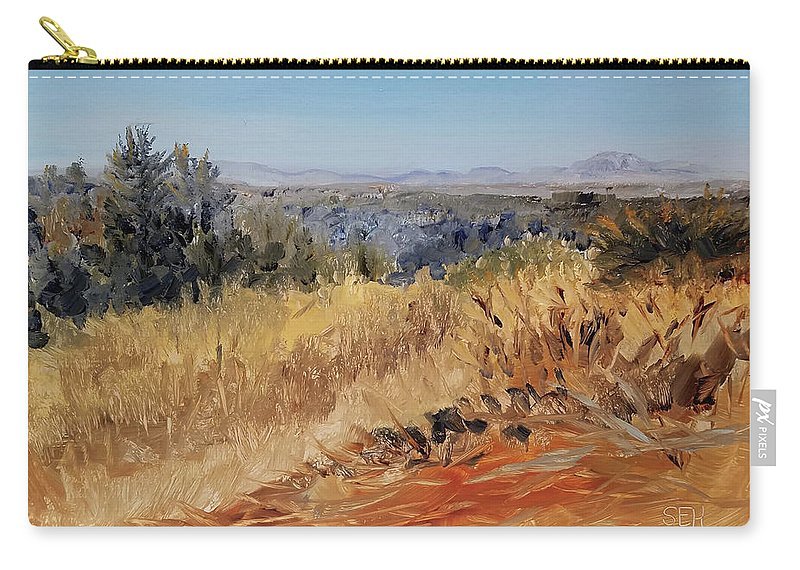 En Plein Air Carry-all Pouch featuring the painting Clear Cut View by Susan Hanna