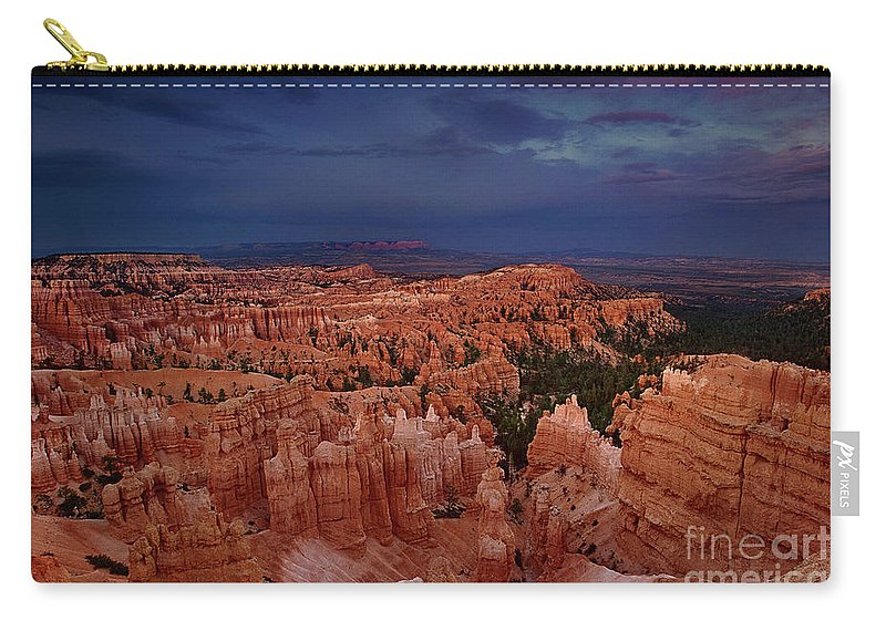 North America Carry-all Pouch featuring the photograph Clearing Storm Over The Hoodoos Bryce Canyon National Park by Dave Welling