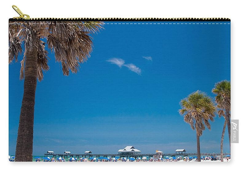 3scape Photos Carry-all Pouch featuring the photograph Clearwater Beach by Adam Romanowicz