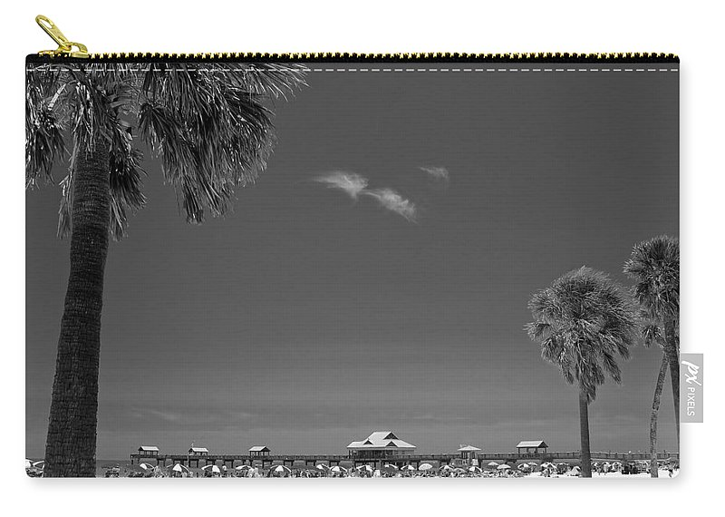 3scape Carry-all Pouch featuring the photograph Clearwater Beach Bw by Adam Romanowicz