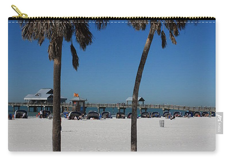Clearwater Beach Carry-all Pouch featuring the photograph Clearwater Beach by Carol Groenen