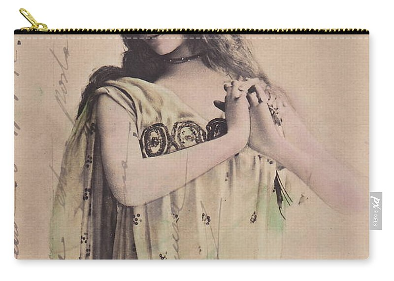 Cleo Carry-all Pouch featuring the photograph Cleo De Merode by Reutlingers