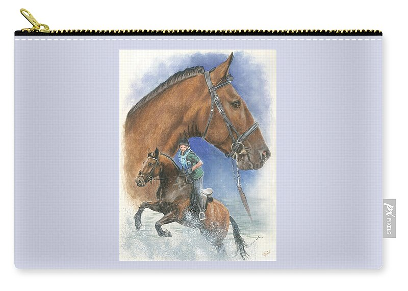Hunter Jumper Carry-all Pouch featuring the mixed media Cleveland Bay by Barbara Keith