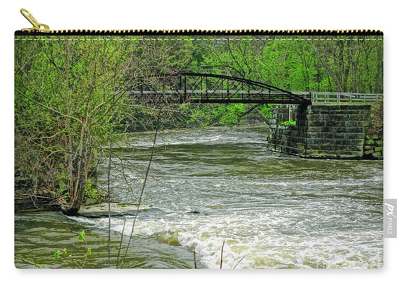 Metropark Carry-all Pouch featuring the photograph Cleveland Metropark Bridge by Joan Minchak