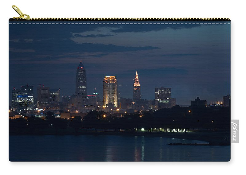 Cleveland Carry-all Pouch featuring the photograph Cleveland Reflections by Stewart Helberg