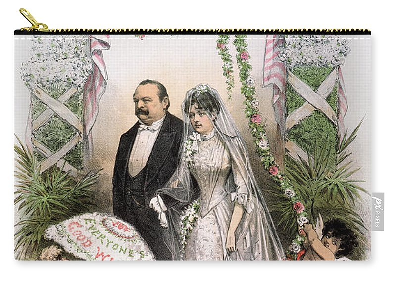 1886 Carry-all Pouch featuring the photograph Clevelands Wedding, 1886 by Granger