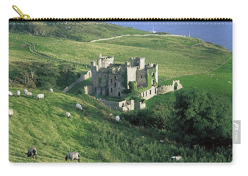 Architecture Carry-all Pouch featuring the photograph Clifden Castle, Co Galway, Ireland 19th by The Irish Image Collection