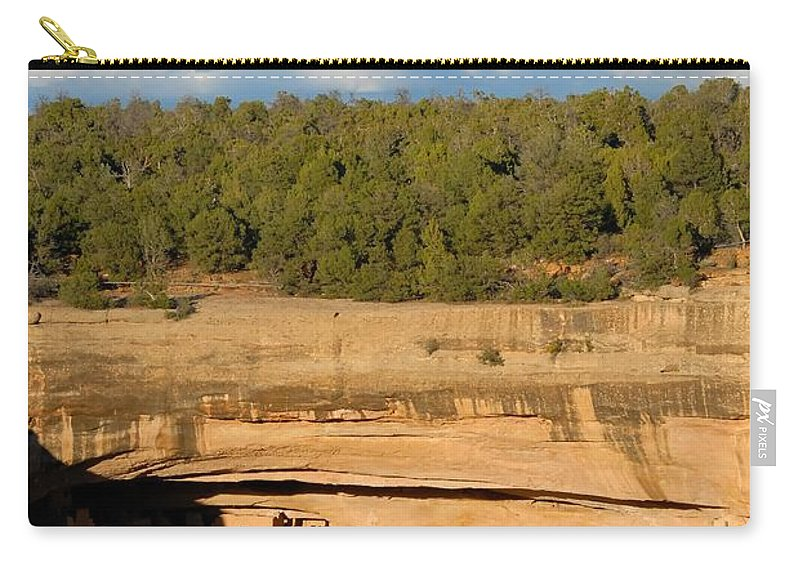 Cliff Palace Carry-all Pouch featuring the photograph Cliff Palace Landscape by David Lee Thompson