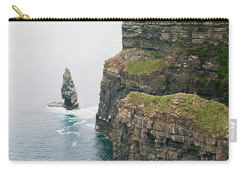 Cliffs Of Moher Carry-all Pouch featuring the photograph Cliffs by Ashley Haack