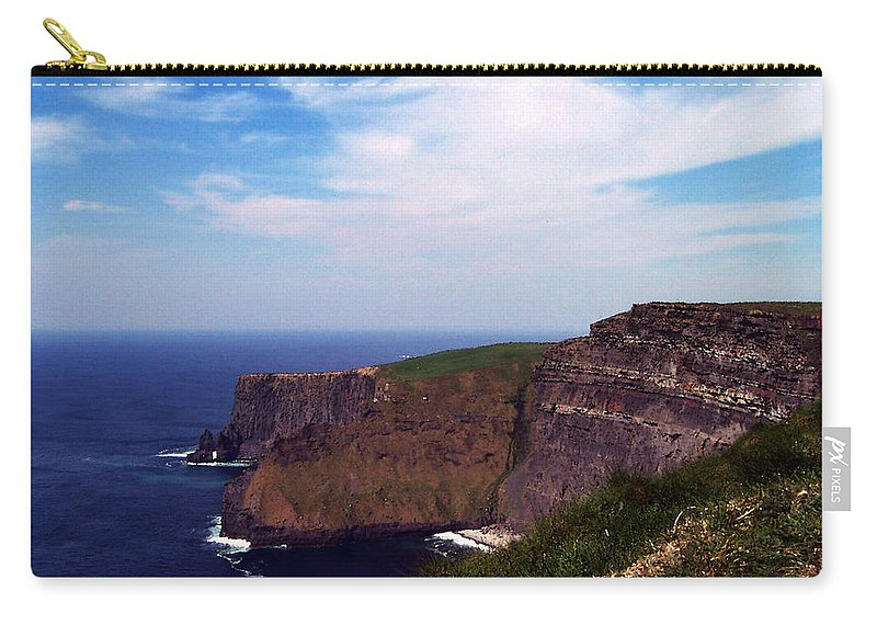 Irish Carry-all Pouch featuring the photograph Cliffs Of Moher Aill Na Searrach Ireland by Teresa Mucha