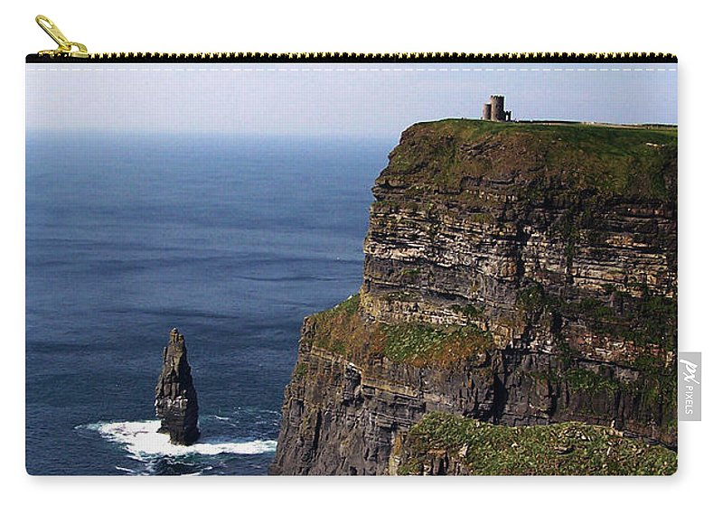 Irish Carry-all Pouch featuring the photograph Cliffs Of Moher County Clare Ireland by Teresa Mucha