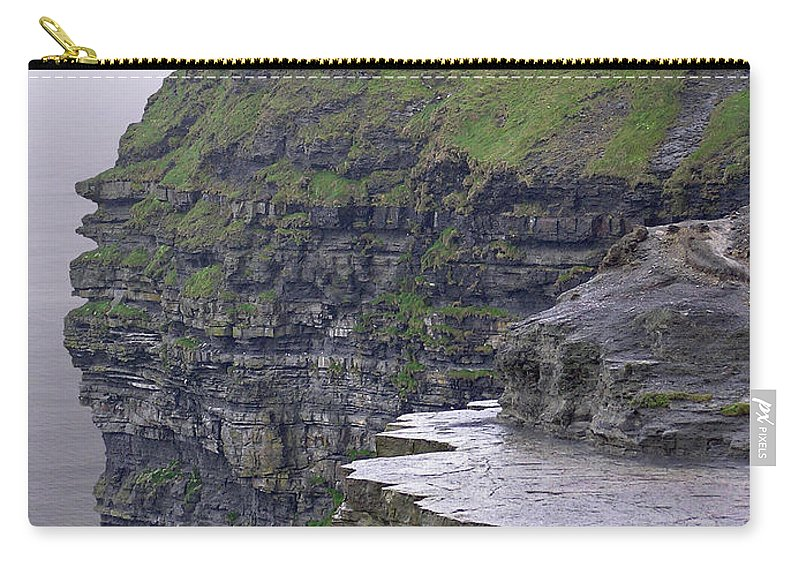 Cliff Carry-all Pouch featuring the photograph Cliffs Of Moher Ireland by Charles Harden