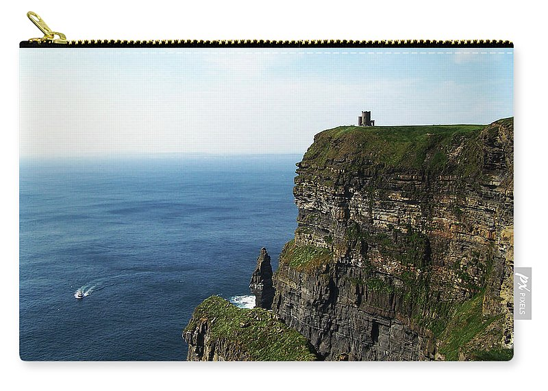 Irish Carry-all Pouch featuring the photograph Cliffs Of Moher Ireland by Teresa Mucha