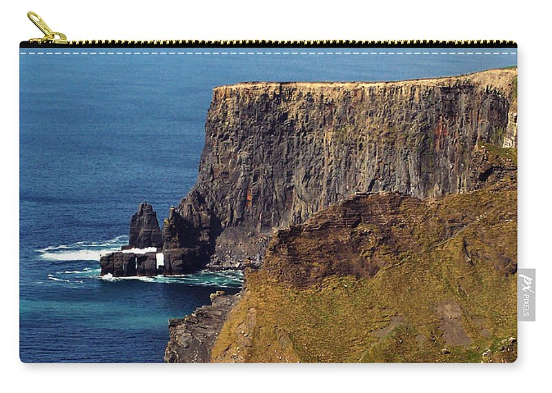 Irish Carry-all Pouch featuring the photograph Cliffs of Moher Ireland View of Aill Na Searrach by Teresa Mucha