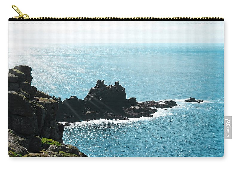 Aqua Carry-all Pouch featuring the photograph Cliffs by Svetlana Sewell